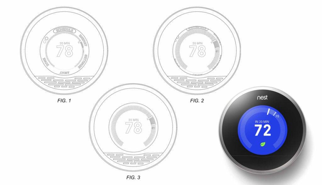 Nest GUI Design Patent Example